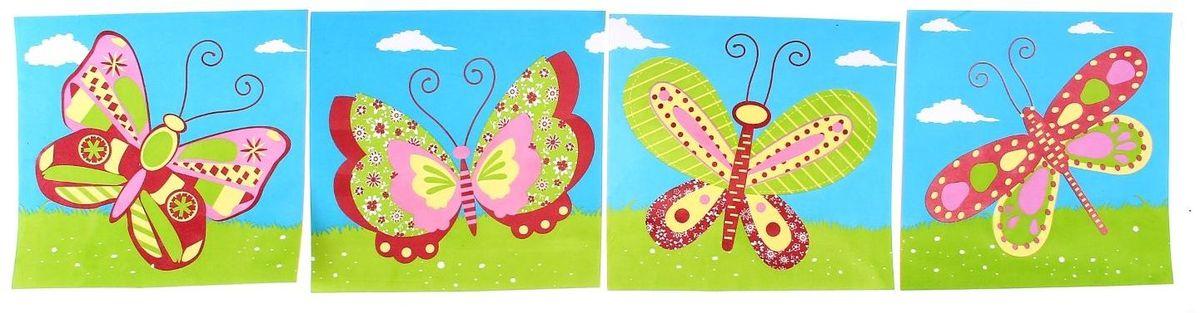 Room Decor Наклейка интерьерная Бабочки 4 шт