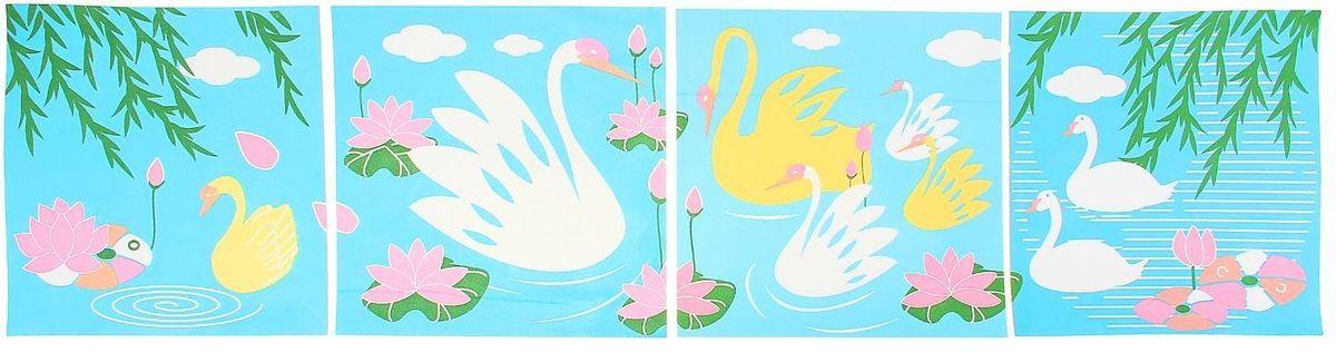 Room Decor Наклейка интерьерная Лебеди 4 шт