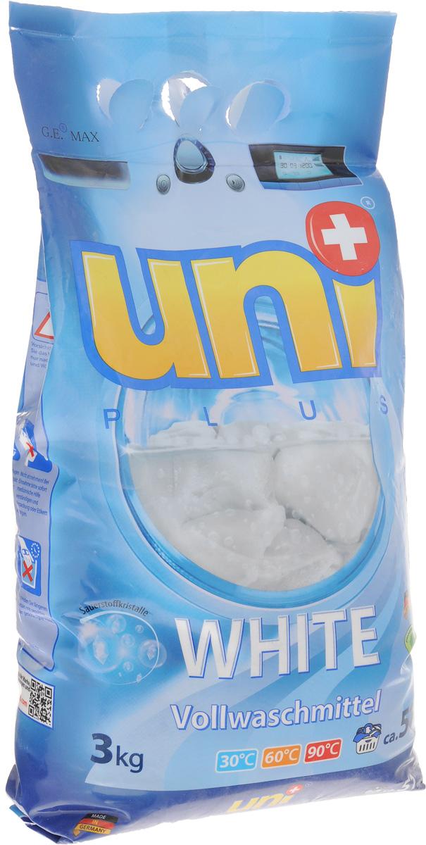 Порошок стиральный UniPlus White, для белых вещей, 3 кг200728Стиральный порошок Uniplus White предназначен для стирки белого белья. Отбеливает с помощью активных кислородных частиц. Не содержит хлора и агрессивных химикатов. Не разрушает структуру тканей. Эффективно отстирывает при температурах от 30°С до 90°С. Не подходит для стирки деликатных тканей и изделий из шерсти, а также для темного и цветного белья. Содержит смягчающие воду вещества, защищающие стиральную машину от образования известкового налета. Состав: (15-30%) кислородный отбеливатель, (5-15%) анионные ПАВ, (менее 5%) мыло, неионогенные ПАВ, фосфонаты, одушка, оптический отбеливатель. Товар сертифицирован.