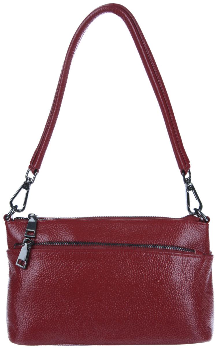 Сумка женская Cheribags, цвет: бордовый. 4207-334207-33Изысканная женская сумка Cheribags выполнена из качественной натуральной кожи. Модель имеет одно основное отделение, закрывающееся на застежку-молнию. Внутри имеется два кармана на застежках-молниях, один большой открытый карман и один накладной кармашек для телефона и мелочей. На передней и задней стенке сумки расположены прорезные карманы на застежке-молнии. Изделие оснащено плечевым ремнем, который регулируется по длине. Роскошная сумка внесет элегантные нотки в ваш образ и подчеркнет ваше отменное чувство стиля.