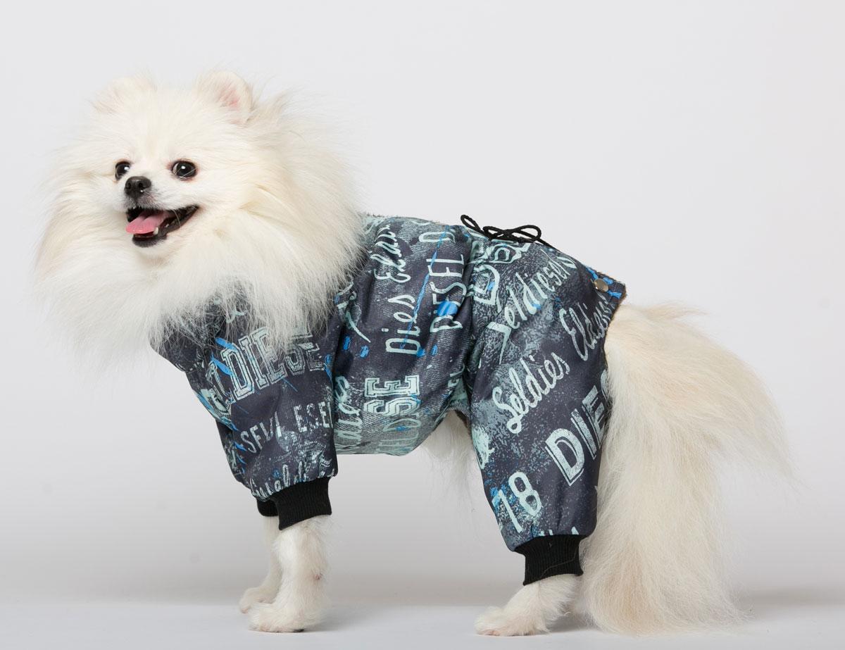 Комбинезон для собак Yoriki Дизель, для мальчика, цвет: синий, мятный. Размер M331-12Комбинезон для собак Yoriki Дизель отлично подойдет для прогулок в прохладную погоду осенью или весной. Верх комбинезона выполнен из водоотталкивающего полиэстера. Подкладка изготовлена из искусственного меха. Низ рукавов и брючин оснащен широкими стильными манжетами. Застегивается комбинезон на спине на кнопки и дополнительно на пояснице затягивается шнурком. Благодаря такому комбинезону вашему питомцу будет комфортно наслаждаться прогулкой. Обхват шеи: 23-28 см. Длина по спинке: 25 см. Объем груди: 35-42 см.