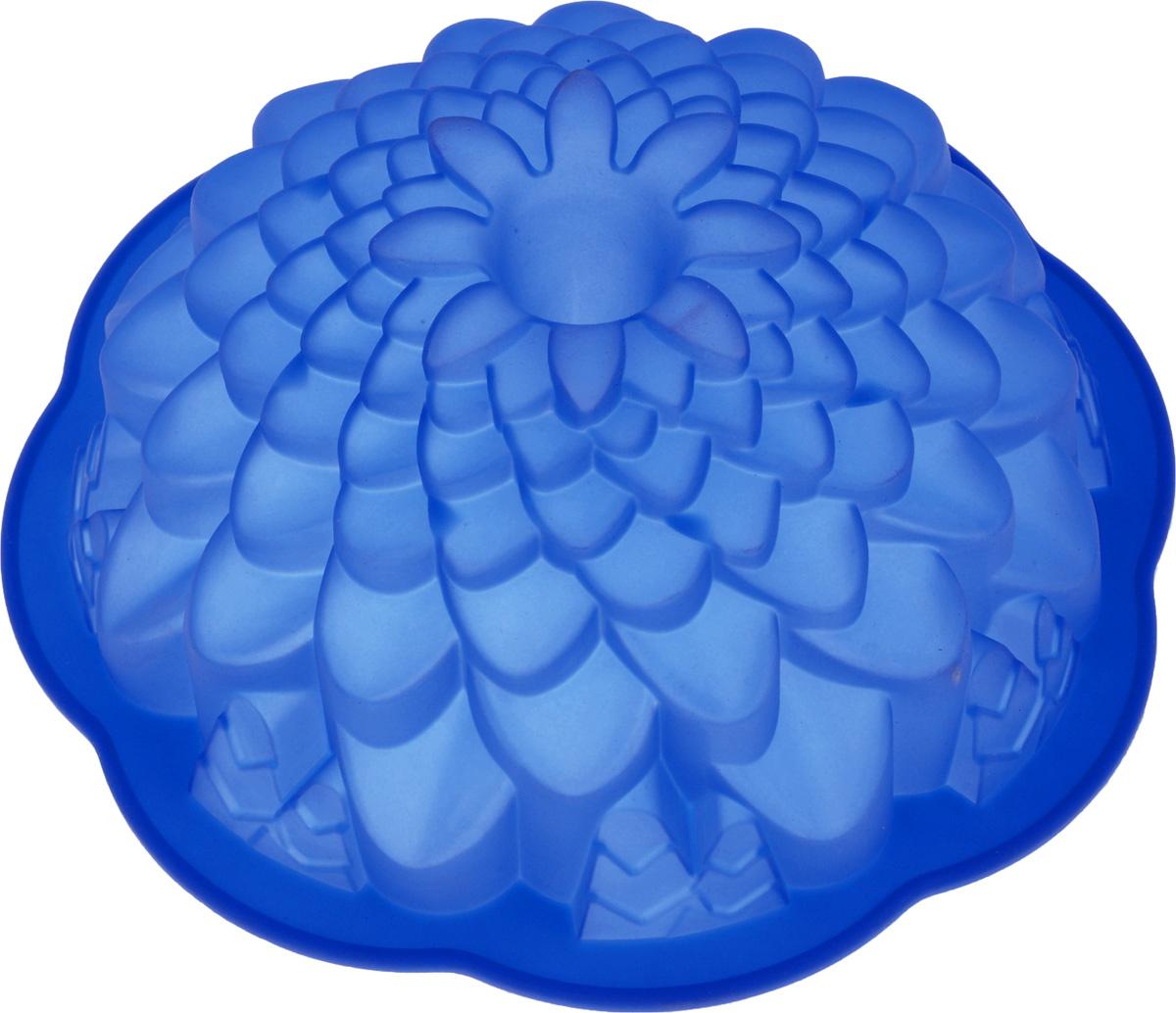 Форма для выпечки кекса Mayer & Boch Хризантема, круглая, цвет: синий, диаметр 22 см22075_синийКруглая форма Mayer & Boch Хризантема будет отличным выбором для всех любителей выпечки. Благодаря тому, что форма изготовлена из силикона, готовую выпечку вынимать легко и просто. Стенки формы оснащены рельефной поверхностью. Форма прекрасно подходит для выпечки кексов. С такой формой вы всегда сможете порадовать своих близких оригинальной выпечкой. Материал изделия устойчив к фруктовым кислотам, может быть использован в духовках, микроволновых печах, холодильниках (выдерживает температуру от -40°C до 230°C). Можно мыть в посудомоечной машине. Диаметр (по верхнему краю): 22 см. Высота стенок: 8 см.