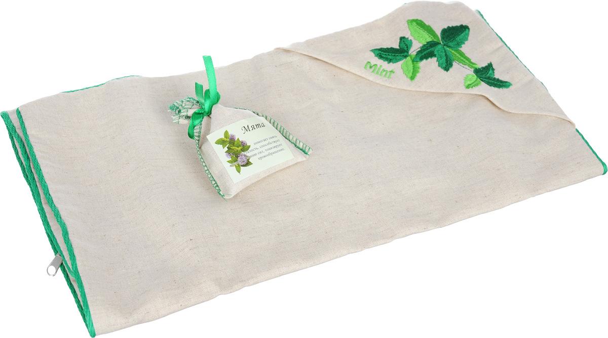 Наволочка Smart Textile Традиция здоровья. Мята, с вышивкой, с мешочком ароматравы, 40 х 60 смЕ907Наволочка Smart Textile Традиция здоровья. Мята идеально подходит для подарка. Она имеет красивое подарочное и в то же время спокойное оформление. Наволочка выполнена из 100% льна и имеет оригинальную вышивку, окантована декоративным шнурком и застегивается на аккуратную молнию-застежку. Еще одно важное преимущество наволочки - мята в миниатюрном льняном мешочке на атласной завязке-ленте. Этот мешочек при желании владельца вкладывается в специальный кармашек на наволочке. Тонкий аромат принесет нотки природы в спальню. Такой аромат был выбран не случайно. Во сне мы проводим значительную часть нашей жизни и именно от качества сна будет зависеть наше самочувствие и продуктивность нового дня. Поэтому особенно важно выбрать для себя постельные принадлежности, чтобы они были не только удобными, но и полезными. Мята - богата ментолом (содержится в листьях растения), который помогает снять усталость, головную боль, тонизирует кровообращение, обладает ...