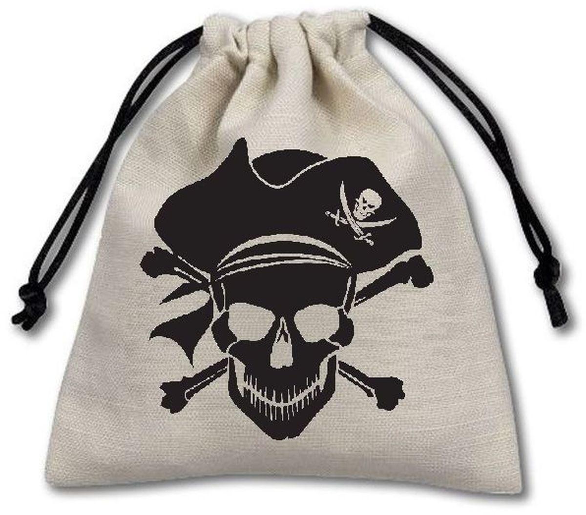 Pandoras Box Мешочек для хранения и подарков Пиратский для кубиков белый 10,5х11,5 см04PB031