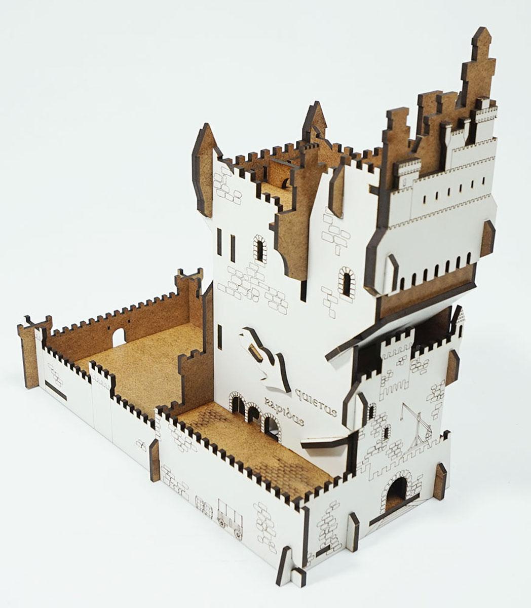 Правильные игры Башня для бросков кубиков Белый Замок складная анимационная 2 режимаLP002-064Башня для бросков кубиков - это приспособления для бросков кубиков когда важно, чтобы значения, выпавшие на кубиках не подверглись сомнению. Башня собирается самостоятельно без клея.