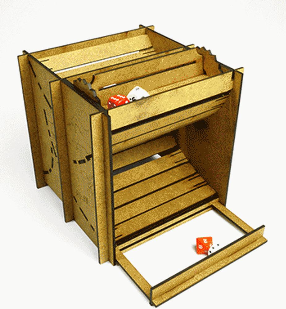 Правильные игры Башня для бросков кубиков Мельница на склоне Фудзи складная 2 режима