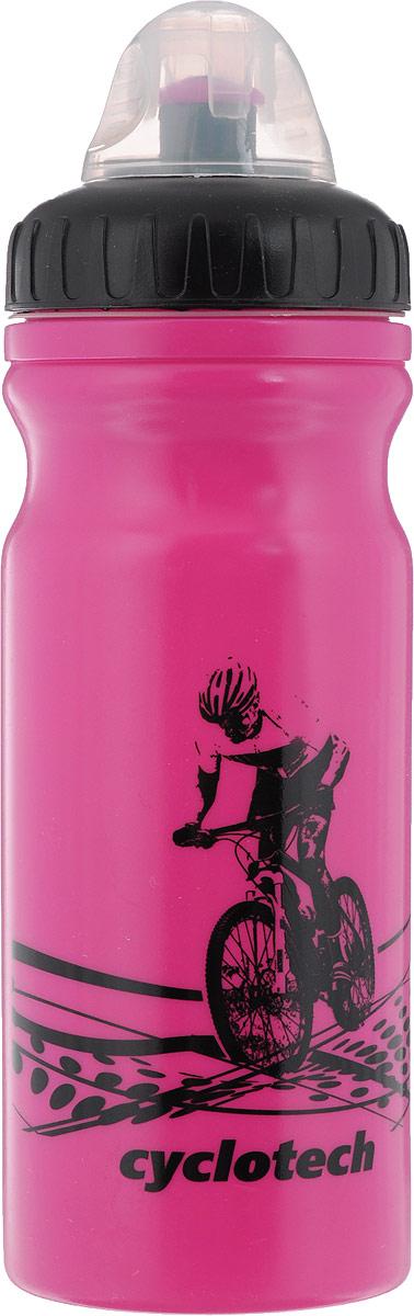 Фляга велосипедная Cyclotech, цвет: розовый, черный, 700 млCBOT-1PВелосипедная фляга Cyclotech изготовлена из высококачественного полиэтилена высокого давления. Изделие без труда устанавливается на велосипед (держатель для фляги приобретается отдельно). Благодаря клапану с сильной струей можно делать большие глотки, а за счет большой винтовой крышки флягу легко наполнить водой. Высота фляги: 23 см.