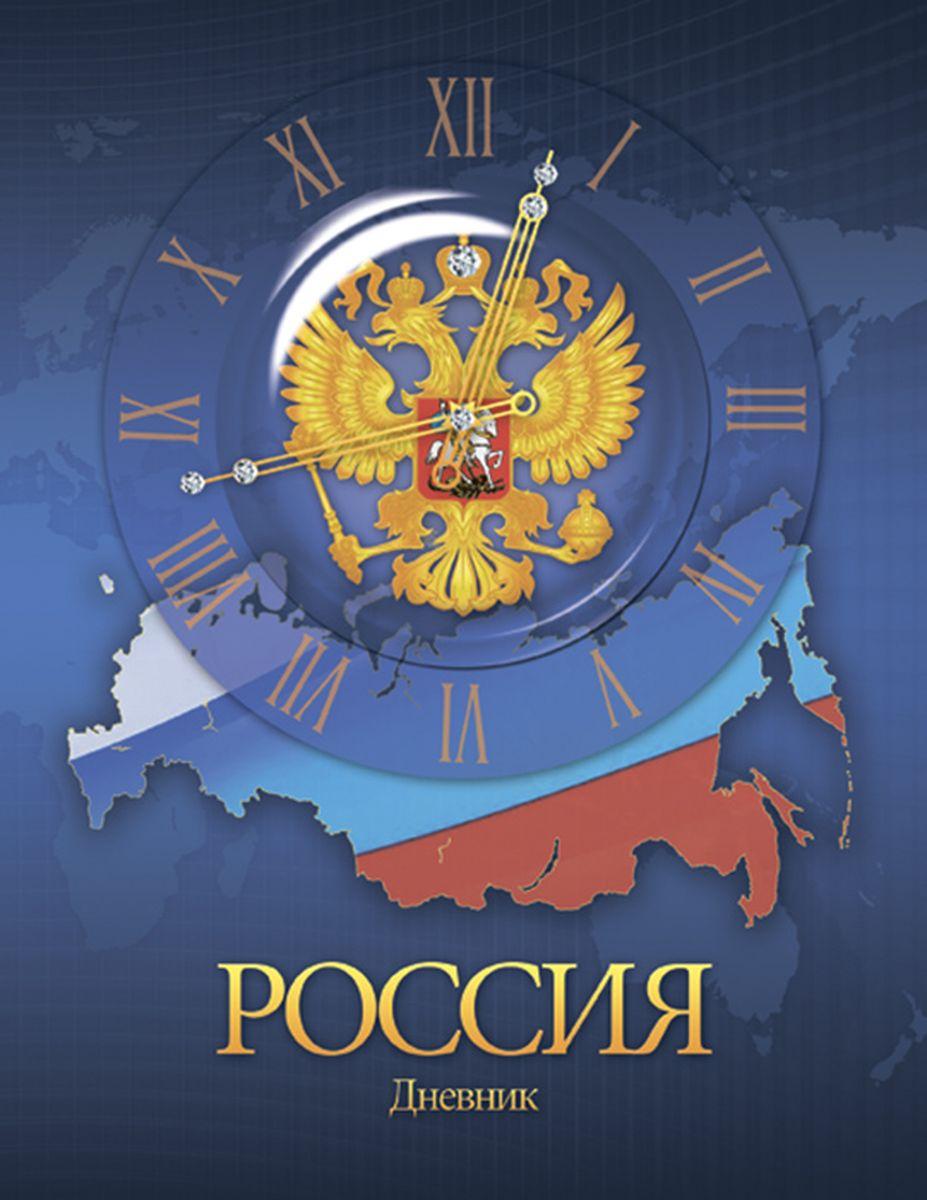 Апплика Дневник школьный Российская символика герб и карта