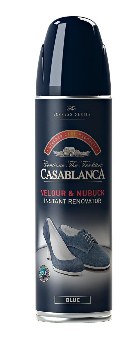 Спрей для обуви Casablanca, для замши, нубука, цвет: синий. 1310. 250мл