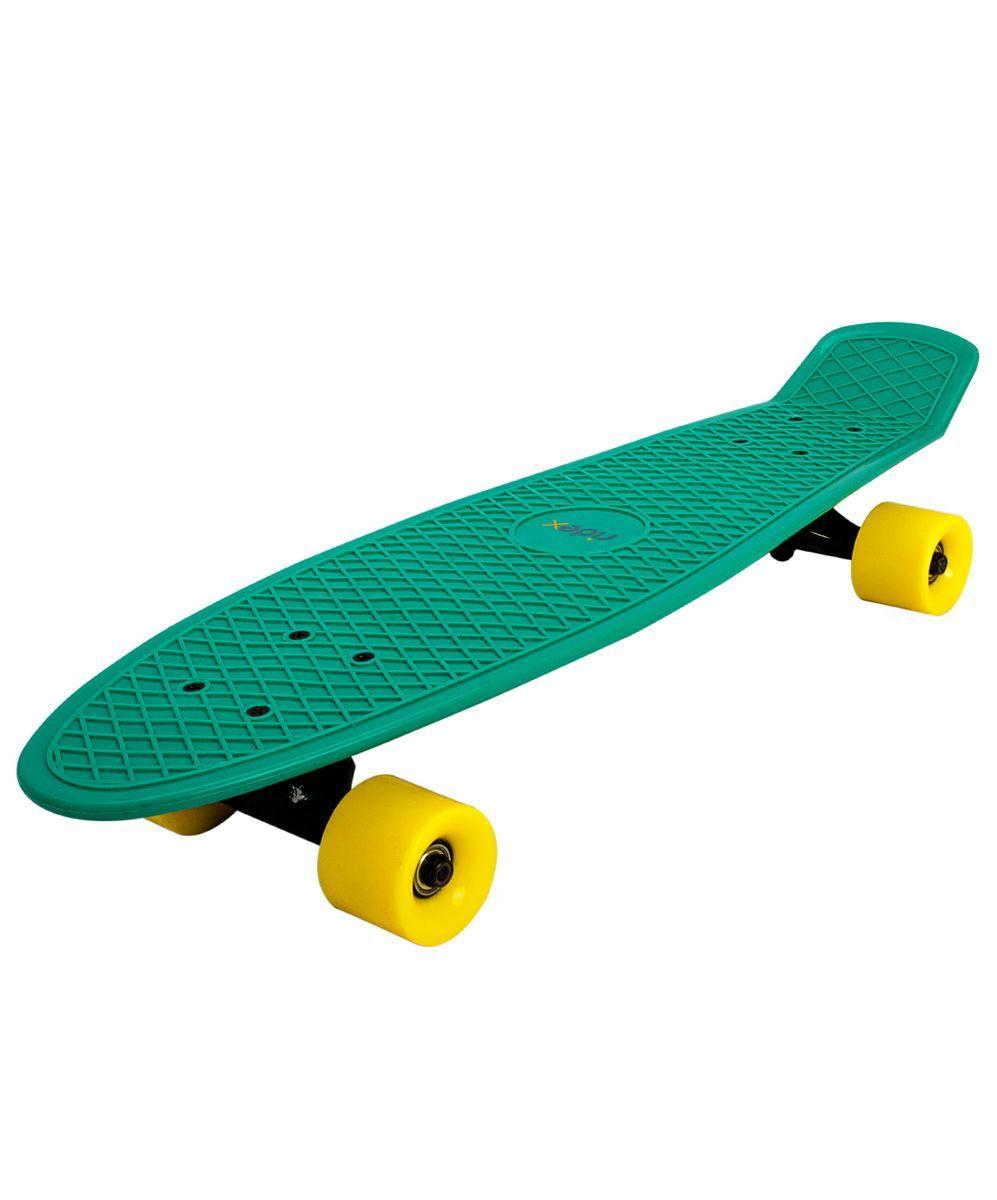 Пенниборд Ridex Smeraldo, 28x7.5, ABEC-7УТ-00008228Популярная во всем мире модель пеннибордов, завоевавшая тысячи сердец скейтеров. Пенниборд Smeraldo, 28x7.5 круизере и предназначен для взрослых, подростков и детей. Более продвинутые пользователи и профессионалы используют данную модель, так как наличие алюминиевой подвески и колес из полиуретана позволяет катание на дорожном покрытии разного качества. Прочная подвеска и полиуретановые колеса мягко проходят неровности, создают быстрый и плавный ход. Пластиковая дека очень прочная и практически не поддается поломке, при этом очень гибкая и пластичная. Яркие цвета придают еще больше летнего настроения. Технические характеристики: Дека: пластик Размер деки: 28 дюймов Максимальный вес пользователя, кг: 90 Подвеска: алюминий Колеса: PU Подшипники: ABEC-7 Производство: КНР