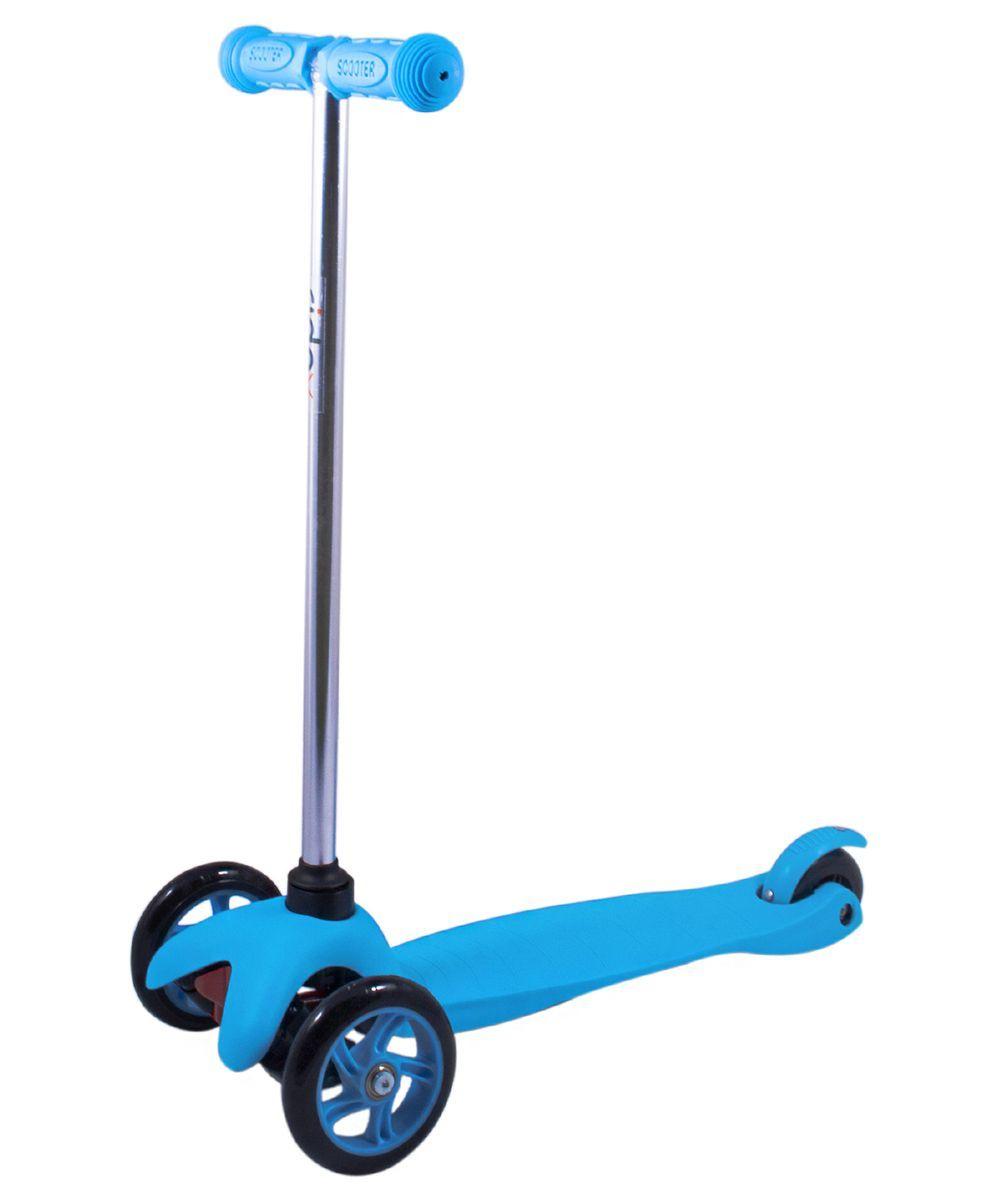 Самокат 3-колесный Ridex 3D Magic (120/80 мм), цвет: синий