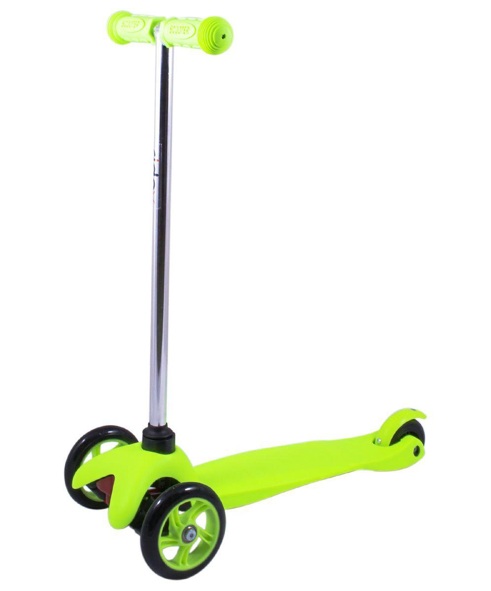 Самокат 3-колесный Ridex 3D Magic (120/80 мм), цвет: зеленый