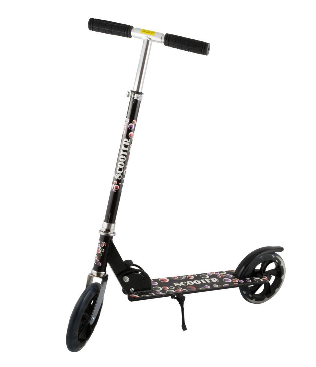 Самокат 2-колесный SC-02 (200 мм), цвет: черныйУТ-00008333Самокат 2-х колесный SC-02 (200 мм) - это двухколесная модель с колесами 200-мм для взрослых и детей. Эргономичные резиновые грипсы. Телескопический руль. Удобная система складывания. Алюминиевая дека. Металлический тормоз. Полиуретановые 200-мм колеса. Подножка для устойчивости самоката. Подшипники ABEC 7 для быстрой и плавной езды. Технические характеристики: Дека: алюминий Ручки: резина Руль: алюминий Материал колеса (внутр): полипропилен Материал колеса (внешний): полиуретан Регулировка руля: есть Система складывания: есть Размер колеса, мм: 200 Подшипники: Abec-7 Цвет: черный Вес, гр: 3350 Производство: КНР Ед. изм: шт. Кратность товара: 1 Количество в коробке: 6