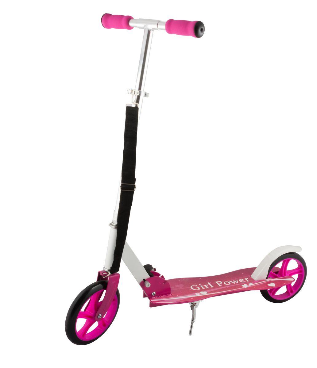 Самокат 2-колесный SC-04 (200 мм), цвет: розовыйУТ-00008338Самокат 2-х колесный SC-04 (200 мм) - это модель имеет индивидуальный дизайн, что отличает ее от остальных. Геометрия деки с никого не оставит равнодушным. Удобная лямка для переноски самоката. Двухколесная модель с 200-мм колесами для взрослых и детей. Эргономичные резиновые грипсы. Телескопический руль. Удобная система складывания. Алюминиевая дека. Металлический тормоз. Полиуретановые 200-мм колеса. Подножка для устойчивости самоката. Подшипники ABEC 7 для быстрой и плавной езды. Технические характеристики: Дека: алюминий Ручки: формованная пена Руль: алюминий Материал колеса (внутр): полипропилен Материал колеса (внешний): полиуретан Регулировка руля: есть Система складывания: есть Размер колеса, мм: 200 Подшипники: Abec-7 Цвет: розовый Вес, гр: 3600 Производство: КНР
