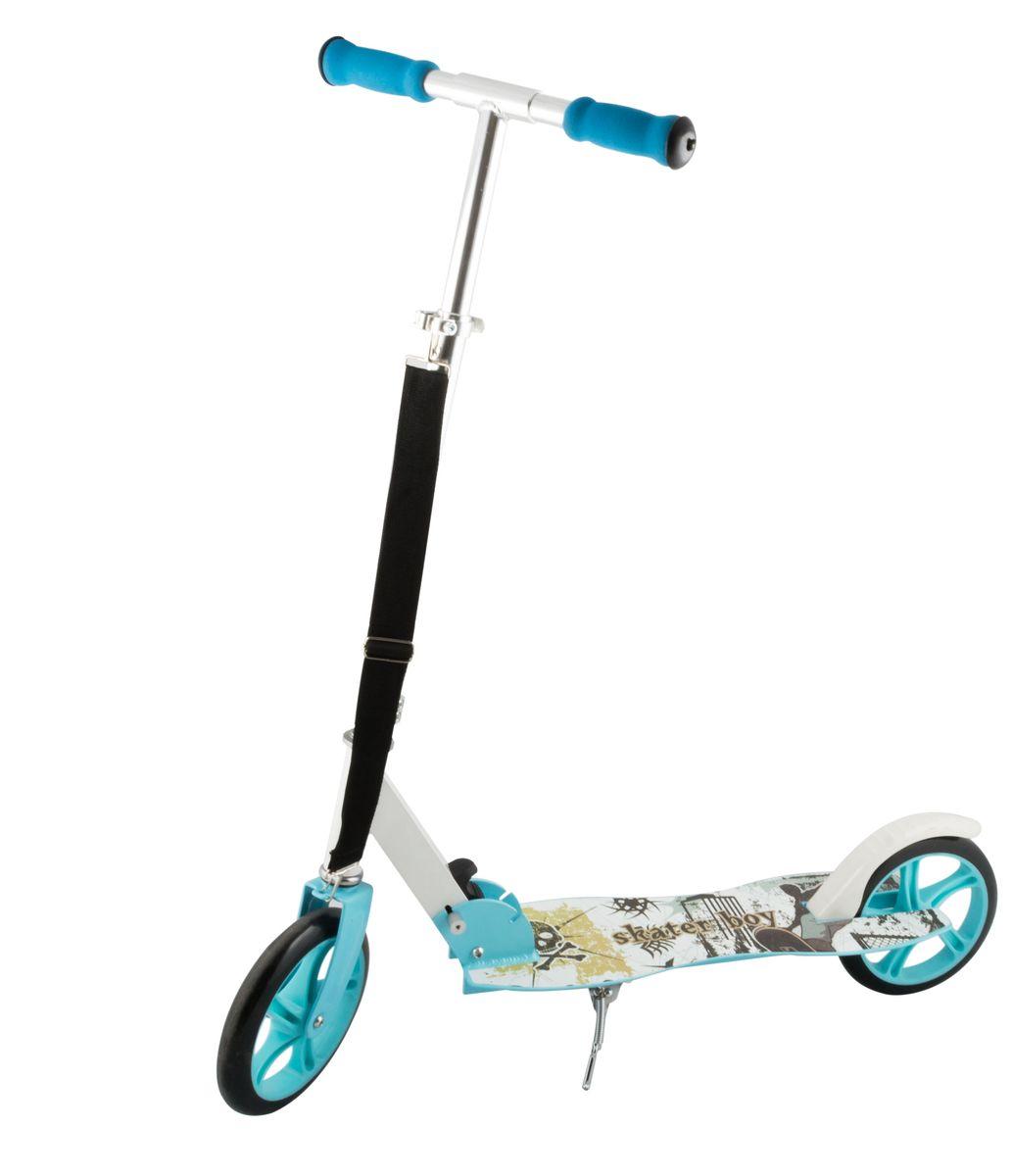 """Самокат 2-колесный SC-04 (200 мм), цвет: синийУТ-00008339Самокат 2-х колесный SC-04 (200 мм) - это модель имеет индивидуальный дизайн, что отличает ее от остальных. Геометрия деки с """"талией"""" никого не оставит равнодушным. Удобная лямка для переноски самоката. Двухколесная модель с 200-мм колесами для взрослых и детей. Эргономичные резиновые грипсы. Телескопический руль. Удобная система складывания. Алюминиевая дека. Металлический тормоз. Полиуретановые 200-мм колеса. Подножка для устойчивости самоката. Подшипники ABEC 7 для быстрой и плавной езды. Технические характеристики: Дека: алюминий Ручки: формованная пена Руль: алюминий Материал колеса (внутр): полипропилен Материал колеса (внешний): полиуретан Регулировка руля: есть Система складывания: есть Размер колеса, мм: 200 Подшипники: Abec-7 Цвет: синий Вес, гр: 3600 Производство: КНР Ед. изм: шт. Кратность товара: 1 Количество в коробке: 4"""