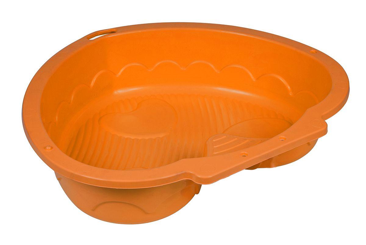 Marian Plast Песочница Сердечко цвет оранжевый434_оранжевыйПесочница-бассейн Сердечко понравится каждому ребенку. Прекрасно подойдет для игры на улице, так и в закрытом помещении.