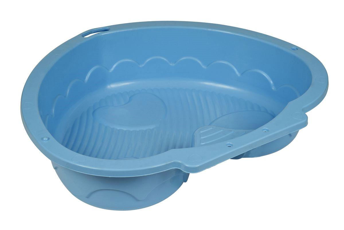 Marian Plast Песочница Сердечко цвет синий434_синийПесочница-бассейн Сердечко понравится каждому ребенку. Прекрасно подойдет для игры на улице, так и в закрытом помещении.
