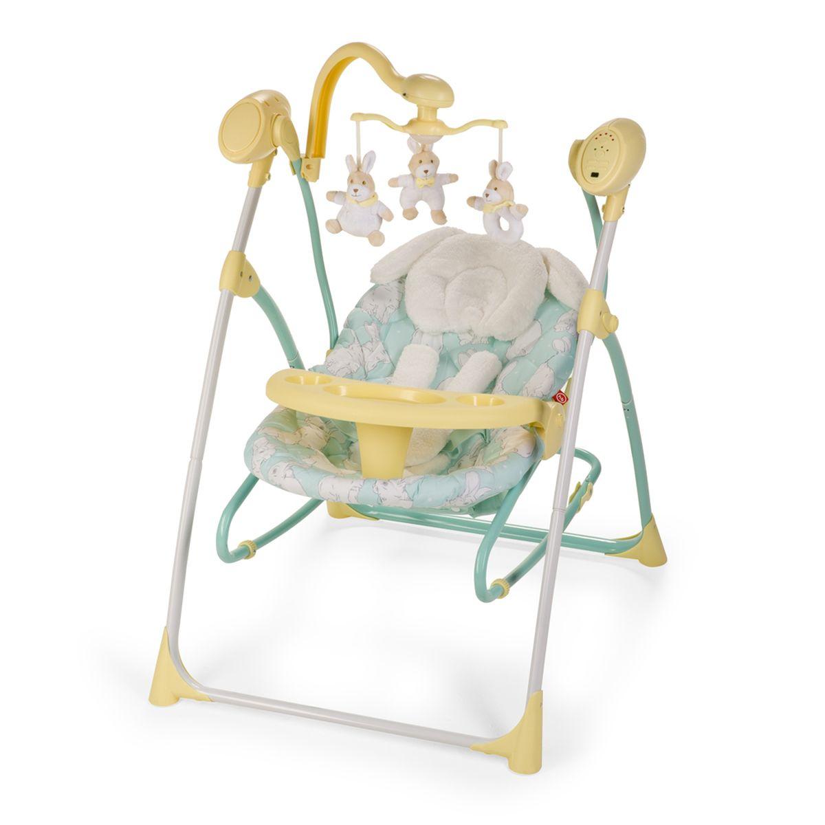 Happy Baby Электрокачели Luffy Yellow4650069782520Кресло-качели LUFFY — лучший помощник для мамы, начиная с первых дней жизни ребенка. Вы можете подобрать идеальное положение спинки (из трех имеющихся), которое обеспечит малышу комфорт для сна или бодрствования. Пять скоростей укачивания помогут выбрать оптимальный и комфортный вариант для вашего малыша. Двенадцать мелодий, а также наборы звуков природы развеселят или успокоят, а также помогут развитию слуха ребенка. Электронный мобиль со съемными игрушками заинтересует кроху, поможет развитию его зрительных навыков. Имеется таймер на 15, 30 и 60 минут, который поможет маме заниматься своими неотложными делами. Данная модель может использоваться и как шезлонг, для чего достаточно просто снять люльку с опоры качелей. Также в комплекте есть съемный подносик для еды и игр, что очень удобно когда мама начнет вводить первый прикорм и малыш будет дольше бодрствовать. Чехол легко снимается, стирается, а сами качели легко складываются и не занимают много места в квартире. Работают от...
