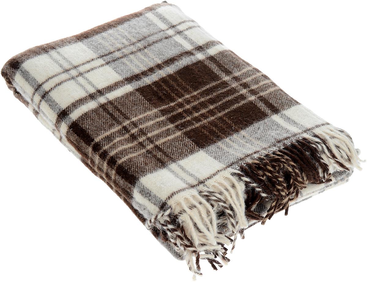 Плед Андо, цвет: темно-коричневый, молочный, 140 х 200 см 1-223-140_031-223-140_03Мягкий и гладкий плед Андо, выполненный из натуральной новозеландской овечьей шерсти, добавит комнате уюта и согреет в прохладные дни. Удобный размер этого качественного пледа позволит использовать его и как одеяло, и как покрывало для кресла или софы. Плед с кистями. Плед упакован в пластиковую сумку-чехол на застежке-молнии, а прочные текстильные ручки делают чехол удобным для переноски. Такое теплое украшение может стать отличным подарком друзьям и близким! Под шерстяным пледом вам никогда не станет жарко или холодно, он помогает поддерживать постоянную температуру тела. Шерсть обладает прекрасной воздухопроницаемостью, она поглощает и нейтрализует вредные вещества и славится своими целебными свойствами. Плед из шерсти станет лучшим лекарством для людей, страдающих ревматизмом, радикулитом, головными и мышечными болями, сердечно-сосудистыми заболеваниями и нарушениями кровообращения. Шерсть не электризуется. Она прочна, износостойка, долговечна. Наконец,...