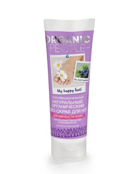 Organic People Скраб для ног для мягкости кожи, 75 мл073-1134Organic People Скраб для ног для мягкости кожи - мягко отшелушивает ороговевшие клетки, делая кожу стоп мягкой и нежной. Подходит для ежедневного применения.Органическое масло лемонграсса обладает противовоспалительным и дезодорируюшщим эффектом; экстракт можжевельника обладает дезинфецирующим и антигрибковым действием. Не содержит вредных химических компонентов : PEG, Парабенов,Продуктов нефтехимии,Искусственных красителей. Содержит:11,20% Органических ингредиентов 99,40% Натуральных ингредиентов .