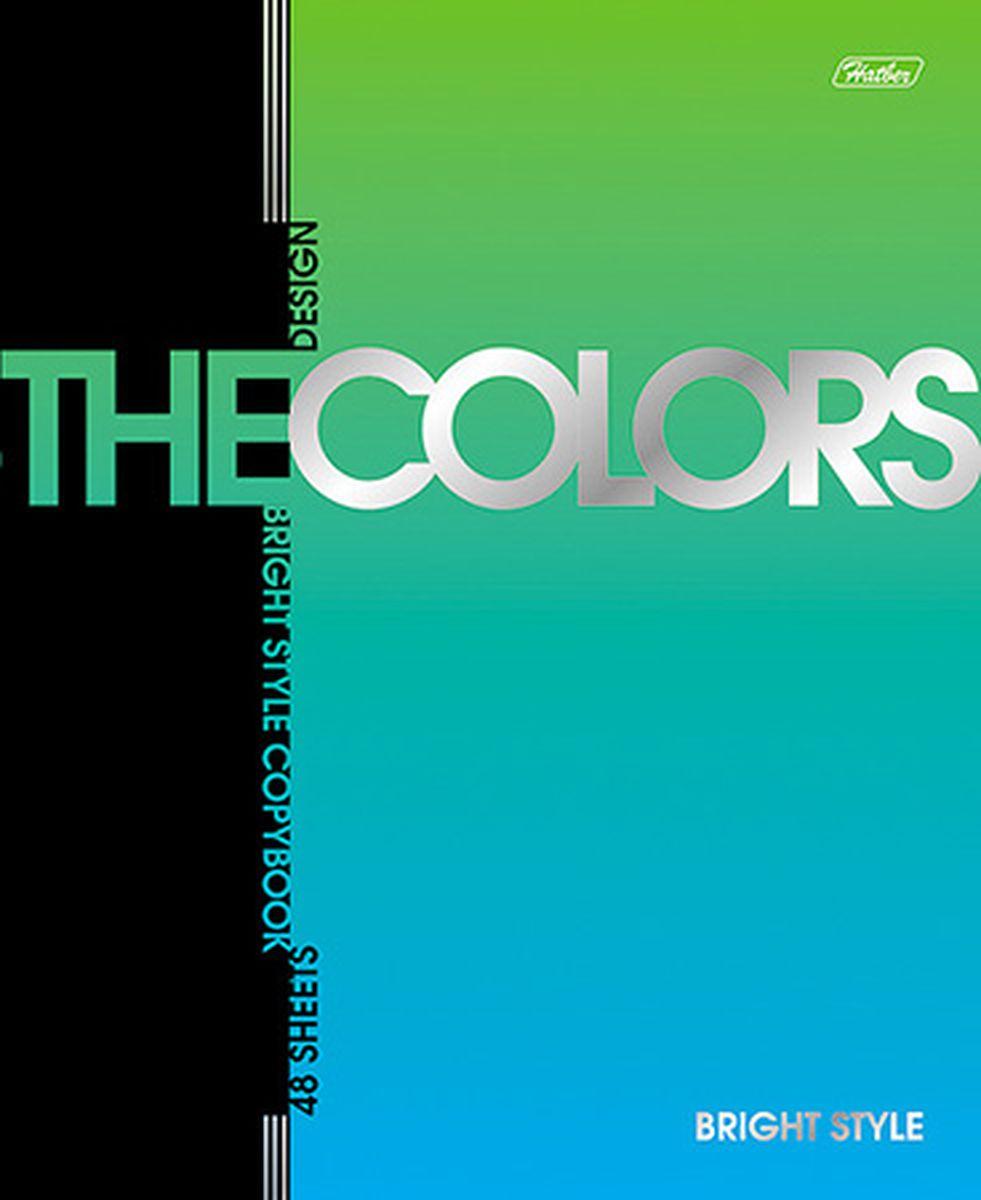 Hatber Тетрадь The Colors 48 листов в клетку цвет зеленый голубой48Т5мтВ1Тетрадь Hatber из серии The Colors отлично подойдет для занятий школьнику или студенту. Обложка, выполненная из плотного металлизированного картона, украшена изображением английских букв. Внутренний блок тетради, соединенный металлическими скрепками, состоит из 48 листов белой бумаги в голубую клетку с полями.