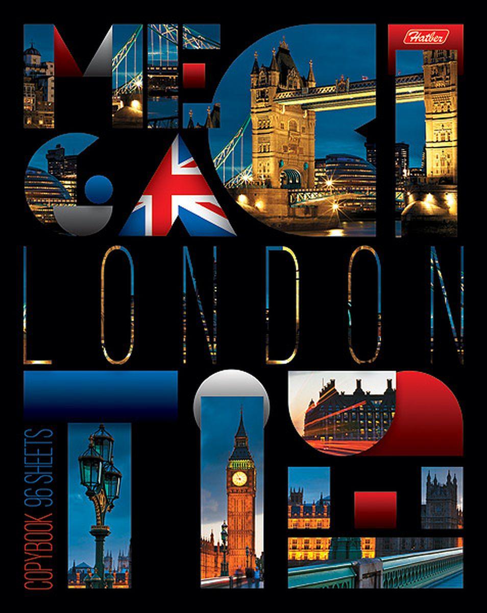 Hatber Тетрадь London 96 листов в клетку96Т5вмВ1Серия тетрадей Megacity - образец сверхпопулярной городской тематики, который претендует если не на статус вечной, то, как минимум, проверенной временем. Яркие фотографии самых известных городов мира смотрятся поистине красиво и пользуются огромной популярностью среди молодежи и заядлых путешественников. Тетрадь Hatber London подойдет школьнику, студенту или для различных записей. Обложка тетради выполнена из плотного картона, что позволит сохранить тетрадь в аккуратном состоянии на протяжении всего времени использования. Лицевая сторона тетради украшена фотографиями достопримечательностей Лондона. Внутренний блок тетради, соединенный двумя металлическими скрепками, состоит из 96 листов белой бумаги. Стандартная линовка в клетку голубого цвета дополнена полями.