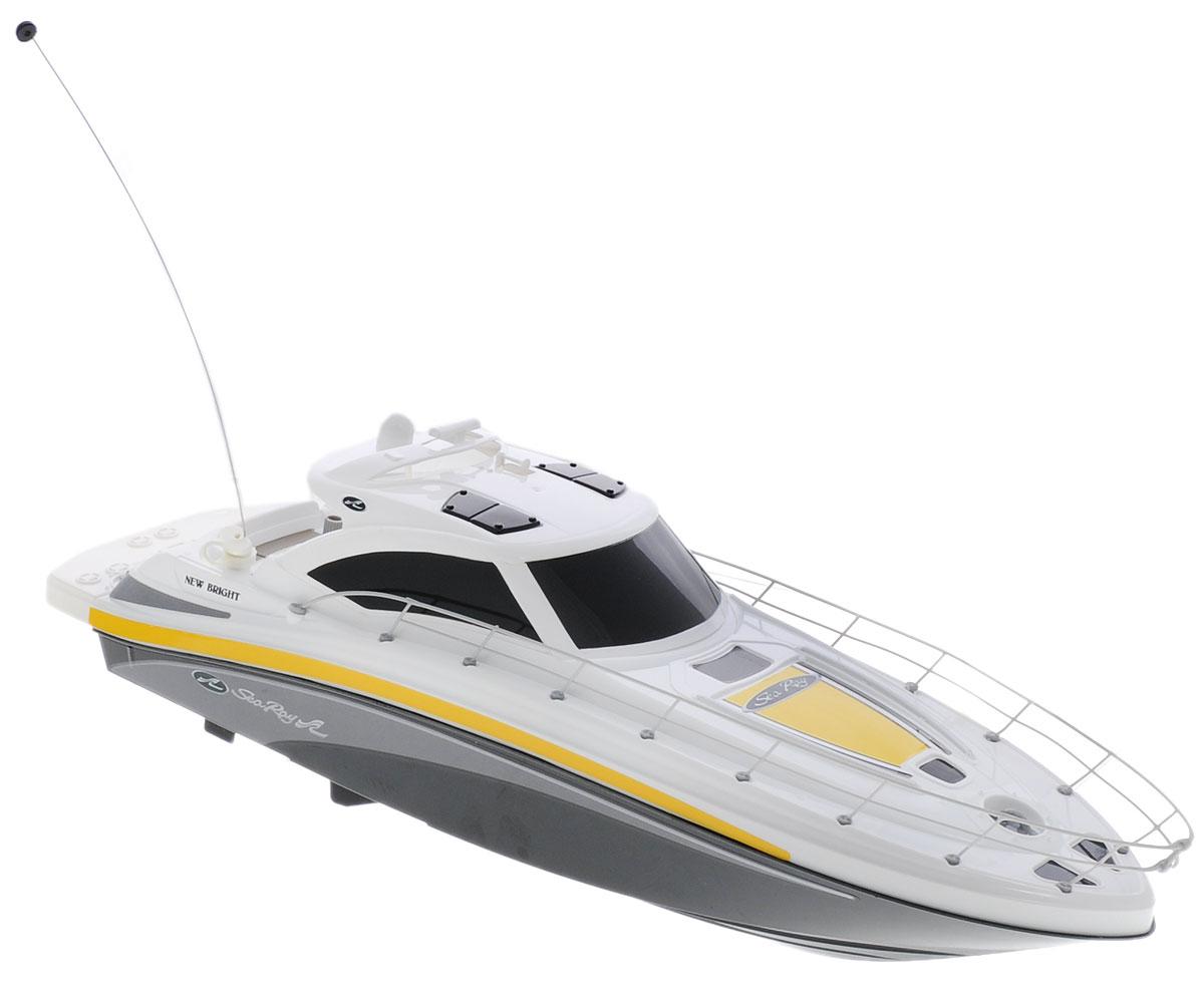 New Bright Катер на радиоуправлении Sea Ray цвет белый черный7185Катер на радиоуправлении New Bright Sea Ray поразит вас своей скоростью, маневренностью и доставит много приятных минут, которые вы сможете провести рядом с вашим юным любителем радиоуправляемых моделей. Катеру найдется место и в ванной, и во время отдыха на пляже. Обладая стремительными изгибами корпуса и полнофункциональным управлением, модели будут подвластны любые водоемы! Пульт управления работает на частоте 27 MHz, а радиус его действия составляет 25-30 метров. Радиоуправляемые игрушки способствуют развитию координации движений, моторики и ловкости. Для работы катера необходимо купить 4 батарейки типа АА (не входят в комплект). Для работы пульта управления необходимо купить 2 батарейки типа АА (не входят в комплект).