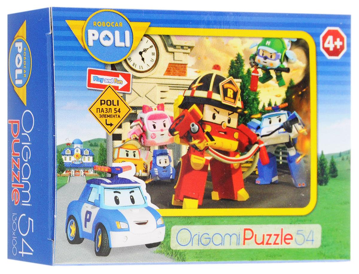 Оригами Мини-пазл Robocar Poli Пожарная машина