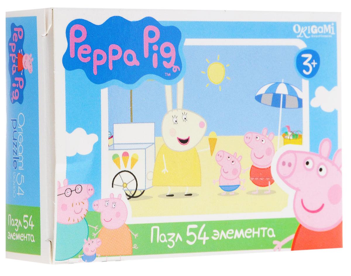 Оригами Мини-пазл Peppa Pig На пляже
