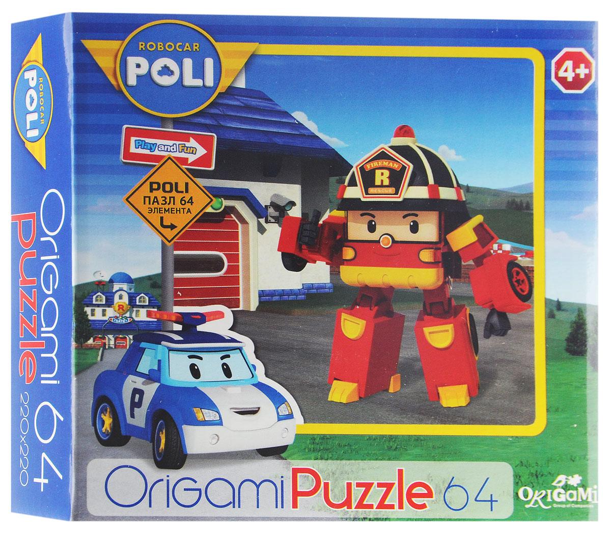 Оригами Пазл Robocar Poli Пожарная машина