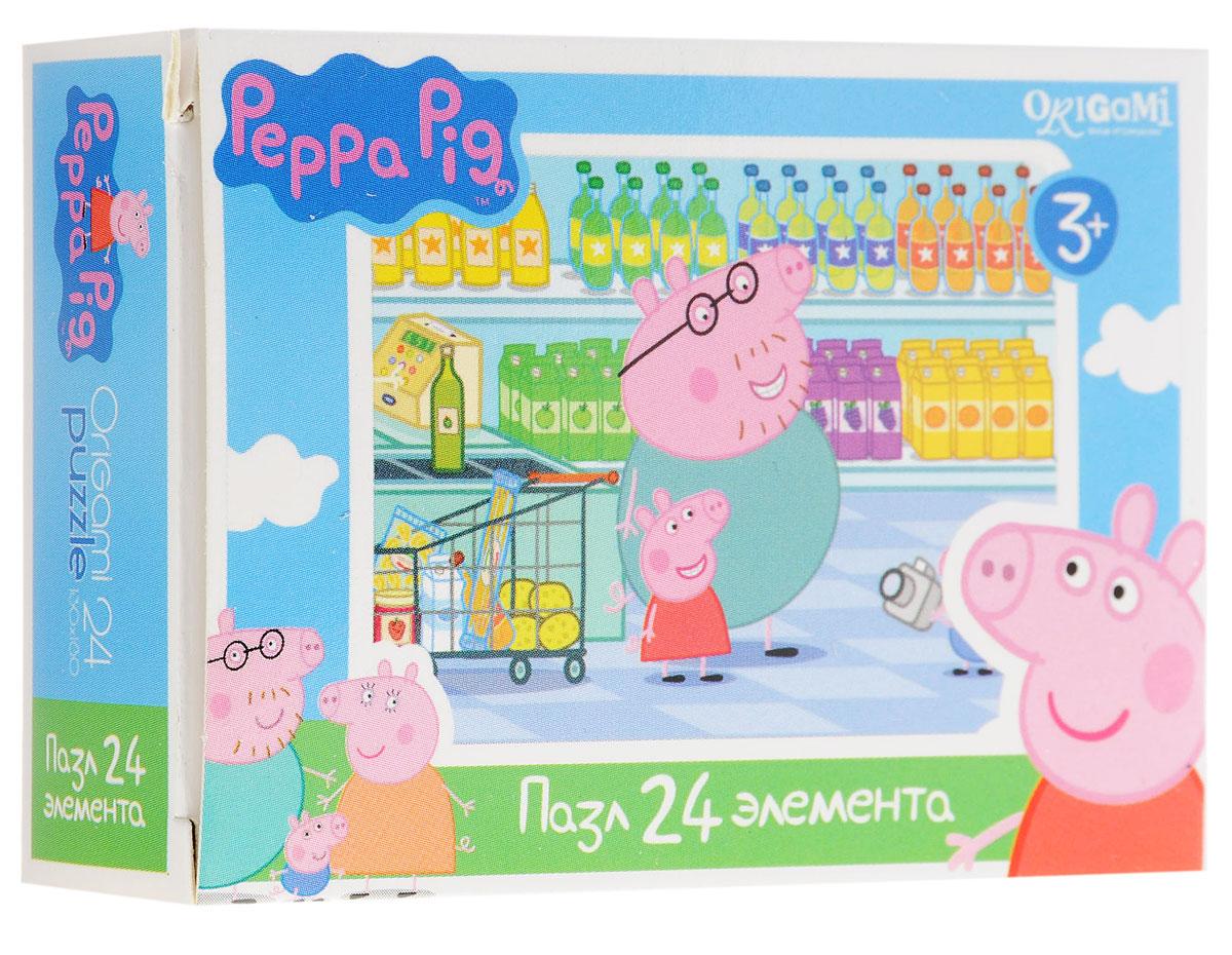 Оригами Мини-пазл Peppa Pig В магазине 01594AST000000000181836_в магазинеМини-пазл Оригами Peppa Pig. В магазине - это хороший способ в ненавязчивой форме развивать у ребёнка мелкую моторику рук, пространственное мышление. Детали пазла изготовлены из плотно спрессованного картона, а верхний слой представлен заламинированной картинкой с красочным изображением героев мультсериала Свинка Пеппа. Размер собранного пазла: 13 см х 18 см.