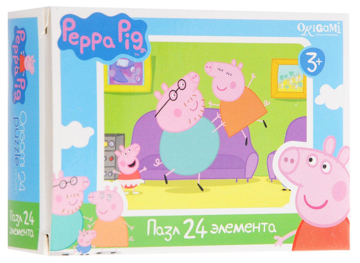 Оригами Мини-пазл Peppa Pig Игры у дивана 01594AST000000000181836_игры у диванаМини-пазл Оригами Peppa Pig. Игры у дивана - это хороший способ в ненавязчивой форме развивать у ребёнка мелкую моторику рук, пространственное мышление. Детали пазла изготовлены из плотно спрессованного картона, а верхний слой представлен заламинированной картинкой с красочным изображением героев мультсериала Свинка Пеппа. Размер собранного пазла: 13 см х 18 см.