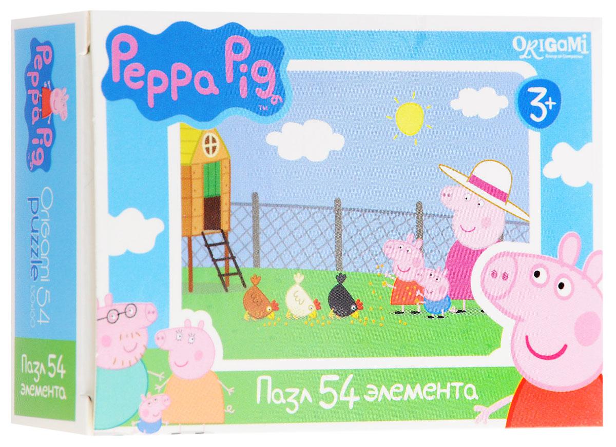 Оригами Мини-пазл Peppa Pig Курятник1596_КурятникМини-пазл Оригами Peppa Pig. Курятник - это хороший способ в ненавязчивой форме развивать у ребёнка мелкую моторику рук, пространственное мышление. Детали пазла изготовлены из плотно спрессованного картона, а верхний слой представлен заламинированной картинкой с красочным изображением героев мультсериала Свинка Пеппа. Размер собранного пазла: 13 см х 18 см.
