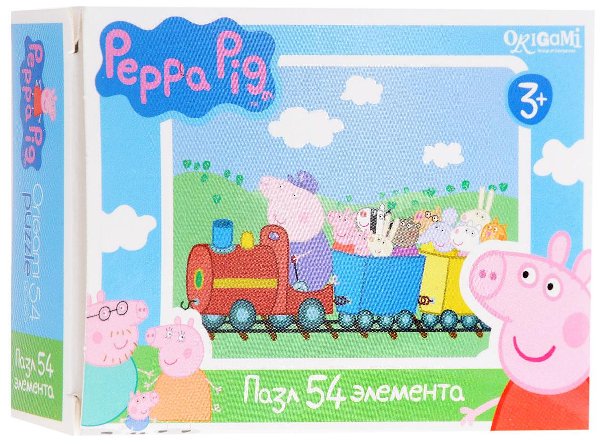 Оригами Мини-пазл Peppa Pig На поезде