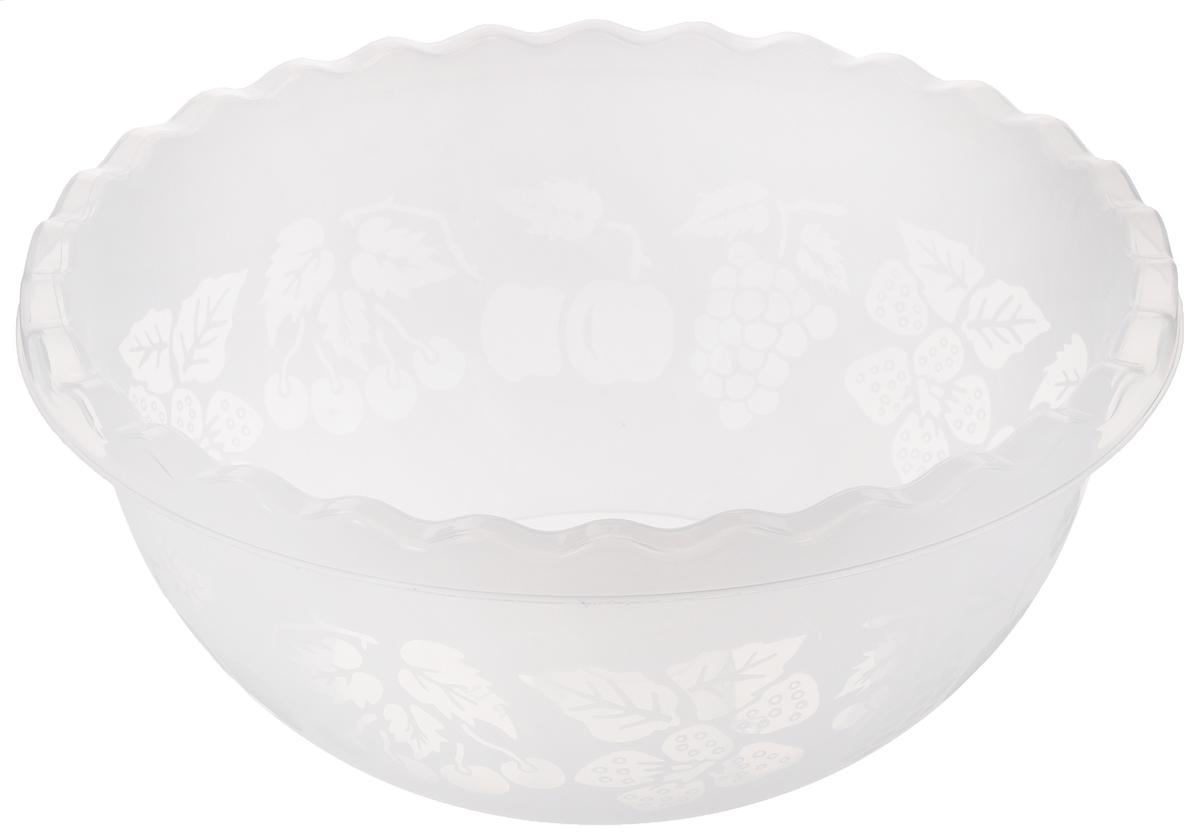 Миска Dunya Plastik, цвет: белый, 3,5 л10501_белыйМиска Dunya Plastik изготовлена из прозрачного пластика, имеет круглую форму. Внешняя стенка украшена изображением ягод и фруктов, кромка волнистая. Такая миска прекрасно подойдет для хранения овощей и фруктов, сервировки салатов и других продуктов. Можно мыть в посудомоечной машине. Объем: 3,5 л. Диаметр: 25 см. Высота стенки: 10,5 см.