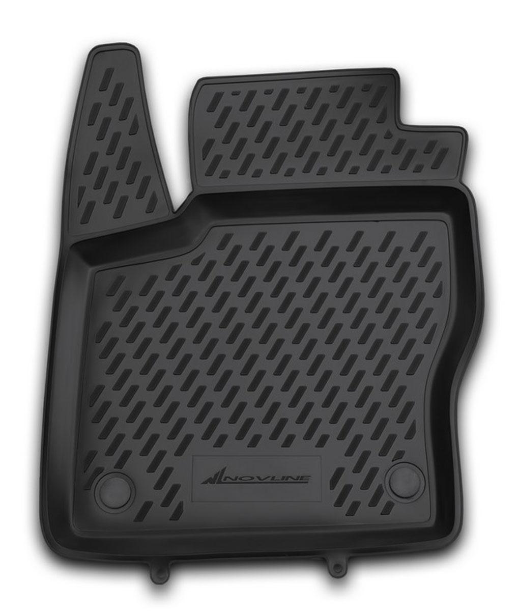 Коврик в салон автомобиля Novline-Autofamily для Ford Focus 3, 04/2011 - 2015, передний левыйCARFRD00001hflКоврик улучшит внешний вид салона автомобиля и надежно убережет его от пыли, грязи и сырости, а значит, защитит кузов от коррозии. Полиуретановый коврик гладкий, приятный и не пропускает влагу. Полиуретановый автомобильный коврик произведен из высококачественного материала, который держит форму и не пачкает обувь. Коврик надежно крепится на полу и не скользит, что очень важно во время движения, особенно для водителя. Изделие из полиуретана надежно удерживает грязь и влагу, при этом всегда выглядит довольно опрятно. И чистится он очень просто: как при помощи автомобильного пылесоса, так и различными моющими средствами.