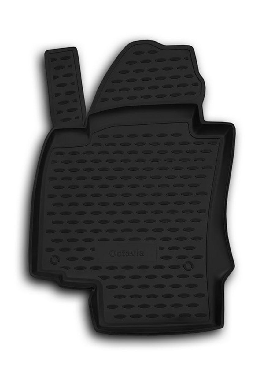 """Коврик в салон автомобиля """"Novline-Autofamily"""" для Skoda Octavia II, 03/2008 -, передний левый NLC.45.03.210kfl"""