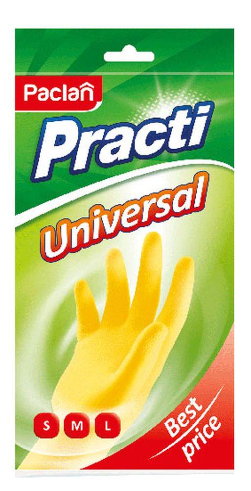 """Пара резиновых перчаток Paclan """"Practi Universal"""". Размер M 407133/407132_M"""