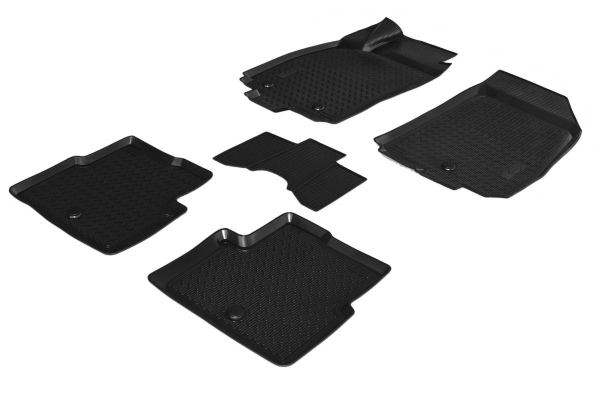 Набор автомобильных ковриков Rival, для Chevrolet Cobalt 2013-, в салон, с перемычкой, 4 шт0011002001Прочные и долговечные коврики Rival, изготовленные из высококачественного и экологичного сырья, полностью повторяют геометрию салона вашего автомобиля. - Надежная система крепления, позволяющая закрепить коврик на штатные элементы фиксации, в результате чего отсутствует эффект скольжения по салону автомобиля. - Высокая стойкость поверхности к стиранию. - Специализированный рисунок и высокий борт, препятствующие распространению грязи и жидкости по поверхности ковра. - Перемычка задних ковров в комплекте предотвращает загрязнение тоннеля карданного вала. - Коврики произведены из первичных материалов, в результате чего отсутствует неприятный запах в салоне автомобиля. - Высокая эластичность материала позволяет беспрепятственно эксплуатировать коврики при температуре от -45°C до +45°C.