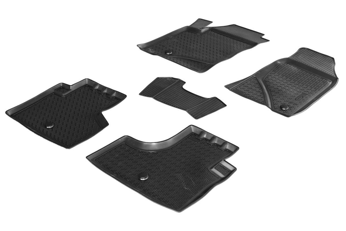 Коврики салона Rival для Chevrolet Niva 2012-, c перемычкой, полиуретан0011004001Прочные и долговечные коврики Rival в салон автомобиля, изготовлены из высококачественного и экологичного сырья, полностью повторяют геометрию салона вашего автомобиля. - Надежная система крепления, позволяющая закрепить коврик на штатные элементы фиксации, в результате чего отсутствует эффект скольжения по салону автомобиля. - Высокая стойкость поверхности к стиранию. - Специализированный рисунок и высокий борт, препятствующие распространению грязи и жидкости по поверхности коврика. - Перемычка задних ковриков в комплекте предотвращает загрязнение тоннеля карданного вала. - Произведены из первичных материалов, в результате чего отсутствует неприятный запах в салоне автомобиля. - Высокая эластичность, можно беспрепятственно эксплуатировать при температуре от -45 ?C до +45 ?C. Уважаемые клиенты! Обращаем ваше внимание, что коврики имеет форму соответствующую модели данного автомобиля. Фото служит для визуального восприятия товара.