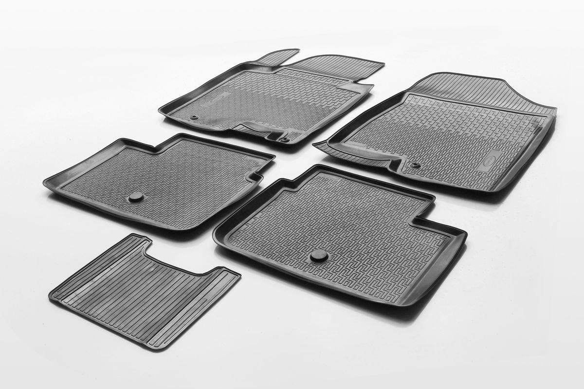 Набор автомобильных ковриков Rival, для Hyundai i30 II хэтчбек 3D, 5D/универсал 2011-, в салон, с перемычкой, 4 шт0012302001Прочные и долговечные коврики Rival, изготовленные из высококачественного и экологичного сырья, полностью повторяют геометрию салона вашего автомобиля. - Надежная система крепления, позволяющая закрепить коврик на штатные элементы фиксации, в результате чего отсутствует эффект скольжения по салону автомобиля. - Высокая стойкость поверхности к стиранию. - Специализированный рисунок и высокий борт, препятствующие распространению грязи и жидкости по поверхности ковра. - Перемычка задних ковров в комплекте предотвращает загрязнение тоннеля карданного вала. - Коврики произведены из первичных материалов, в результате чего отсутствует неприятный запах в салоне автомобиля. - Высокая эластичность материала позволяет беспрепятственно эксплуатировать коврики при температуре от -45°C до +45°C.