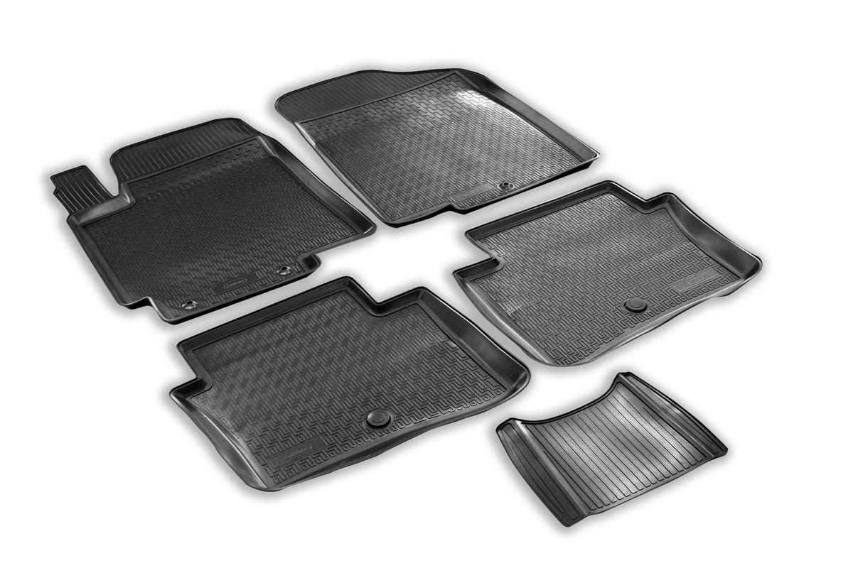 Набор автомобильных ковриков Rival, для Hyundai Solaris хэтчбек/седан 2010-, в салон, с перемычкой, 4 шт0012305001Прочные и долговечные коврики Rival, изготовленные из высококачественного и экологичного сырья, полностью повторяют геометрию салона вашего автомобиля. - Надежная система крепления, позволяющая закрепить коврик на штатные элементы фиксации, в результате чего отсутствует эффект скольжения по салону автомобиля. - Высокая стойкость поверхности к стиранию. - Специализированный рисунок и высокий борт, препятствующие распространению грязи и жидкости по поверхности ковра. - Перемычка задних ковров в комплекте предотвращает загрязнение тоннеля карданного вала. - Коврики произведены из первичных материалов, в результате чего отсутствует неприятный запах в салоне автомобиля. - Высокая эластичность материала позволяет беспрепятственно эксплуатировать коврики при температуре от -45°C до +45°C.