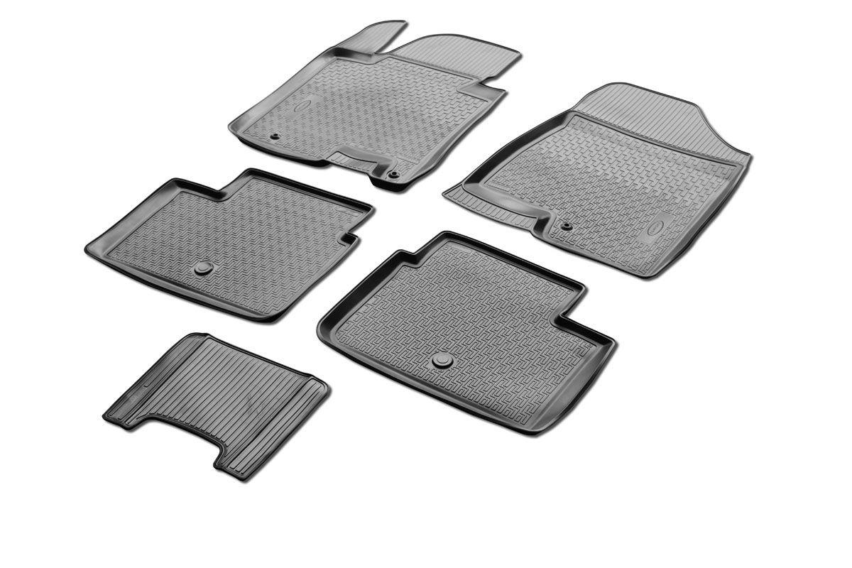 Набор автомобильных ковриков Rival, для Kia Ceed II хэтчбек 3D, 5D 2012-, в салон, с перемычкой, 4 шт0012801001Прочные и долговечные коврики Rival, изготовленные из высококачественного и экологичного сырья, полностью повторяют геометрию салона вашего автомобиля. - Надежная система крепления, позволяющая закрепить коврик на штатные элементы фиксации, в результате чего отсутствует эффект скольжения по салону автомобиля. - Высокая стойкость поверхности к стиранию. - Специализированный рисунок и высокий борт, препятствующие распространению грязи и жидкости по поверхности ковра. - Перемычка задних ковров в комплекте предотвращает загрязнение тоннеля карданного вала. - Коврики произведены из первичных материалов, в результате чего отсутствует неприятный запах в салоне автомобиля. - Высокая эластичность материала позволяет беспрепятственно эксплуатировать коврики при температуре от -45°C до +45°C.