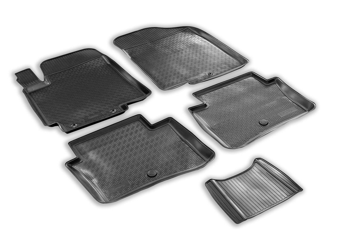 Набор автомобильных ковриков Rival, для Kia Rio III хэтчбек/седан 2011-, в салон, с перемычкой, 4 шт0012803001Прочные и долговечные коврики Rival, изготовленные из высококачественного и экологичного сырья, полностью повторяют геометрию салона вашего автомобиля. - Надежная система крепления, позволяющая закрепить коврик на штатные элементы фиксации, в результате чего отсутствует эффект скольжения по салону автомобиля. - Высокая стойкость поверхности к стиранию. - Специализированный рисунок и высокий борт, препятствующие распространению грязи и жидкости по поверхности ковра. - Перемычка задних ковров в комплекте предотвращает загрязнение тоннеля карданного вала. - Коврики произведены из первичных материалов, в результате чего отсутствует неприятный запах в салоне автомобиля. - Высокая эластичность материала позволяет беспрепятственно эксплуатировать коврики при температуре от -45°C до +45°C.
