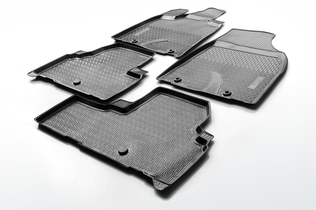 Набор автомобильных ковриков Rival, для Lexus RX 2012-2015, в салон, с перемычкой, 4 шт0013201001Прочные и долговечные коврики Rival, изготовленные из высококачественного и экологичного сырья, полностью повторяют геометрию салона вашего автомобиля. - Надежная система крепления, позволяющая закрепить коврик на штатные элементы фиксации, в результате чего отсутствует эффект скольжения по салону автомобиля. - Высокая стойкость поверхности к стиранию. - Специализированный рисунок и высокий борт, препятствующие распространению грязи и жидкости по поверхности ковра. - Перемычка задних ковров в комплекте предотвращает загрязнение тоннеля карданного вала. - Коврики произведены из первичных материалов, в результате чего отсутствует неприятный запах в салоне автомобиля. - Высокая эластичность материала позволяет беспрепятственно эксплуатировать коврики при температуре от -45°C до +45°C.