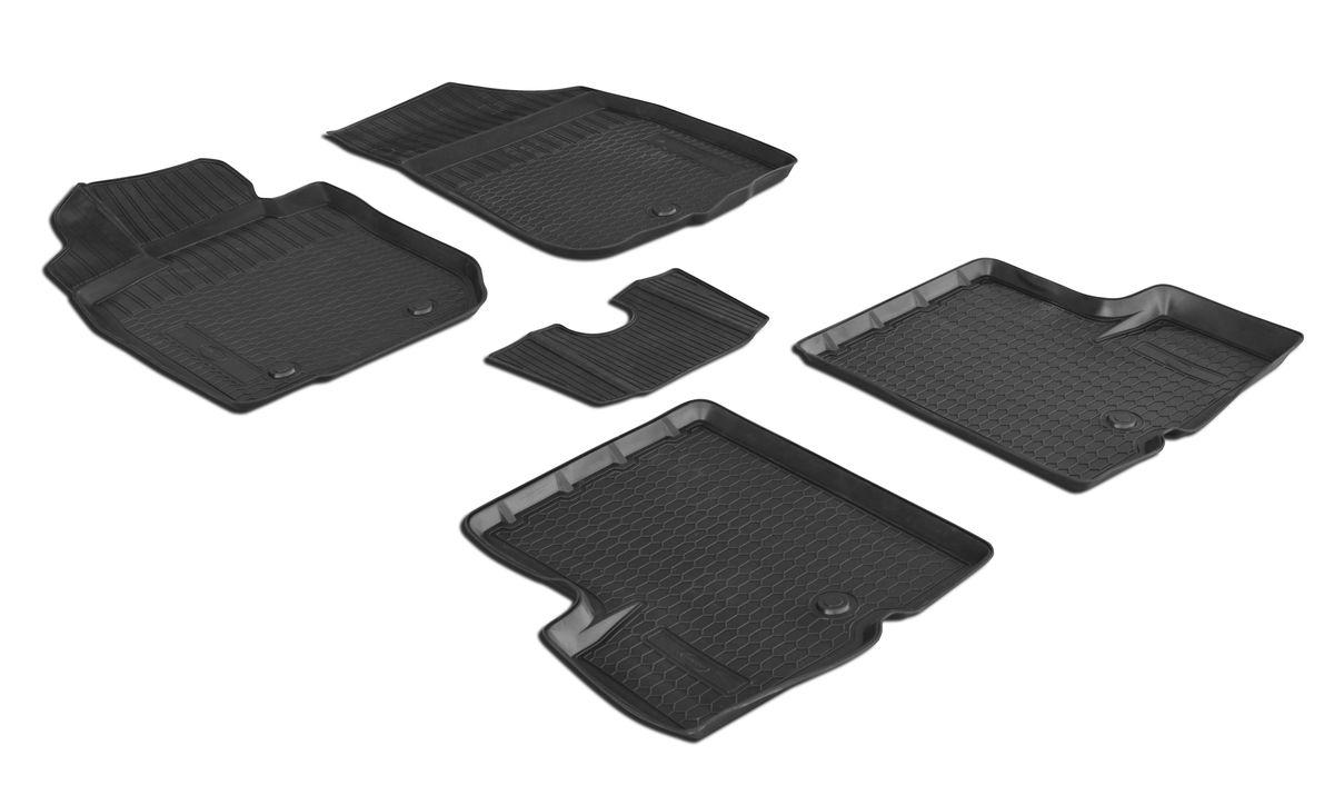 Набор автомобильных ковриков Rival, для Renault Duster 2WD 2010-2015, в салон, с перемычкой, 4 шт0014701001Прочные и долговечные коврики Rival, изготовленные из высококачественного и экологичного сырья, полностью повторяют геометрию салона вашего автомобиля. - Надежная система крепления, позволяющая закрепить коврик на штатные элементы фиксации, в результате чего отсутствует эффект скольжения по салону автомобиля. - Высокая стойкость поверхности к стиранию. - Специализированный рисунок и высокий борт, препятствующие распространению грязи и жидкости по поверхности ковра. - Перемычка задних ковров в комплекте предотвращает загрязнение тоннеля карданного вала. - Коврики произведены из первичных материалов, в результате чего отсутствует неприятный запах в салоне автомобиля. - Высокая эластичность материала позволяет беспрепятственно эксплуатировать коврики при температуре от -45°C до +45°C.