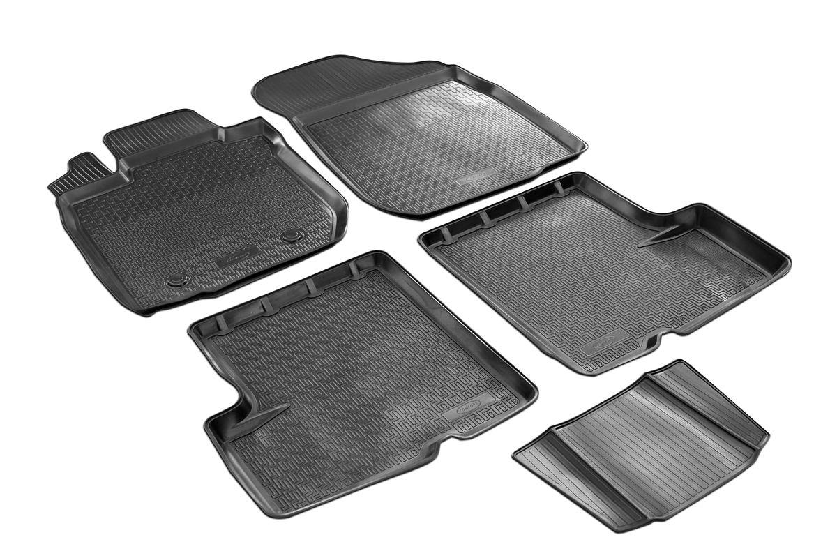 Набор автомобильных ковриков Rival, для Renault Logan 2014-, в салон, с перемычкой, 4 шт0014702001Прочные и долговечные коврики Rival, изготовленные из высококачественного и экологичного сырья, полностью повторяют геометрию салона вашего автомобиля. - Надежная система крепления, позволяющая закрепить коврик на штатные элементы фиксации, в результате чего отсутствует эффект скольжения по салону автомобиля. - Высокая стойкость поверхности к стиранию. - Специализированный рисунок и высокий борт, препятствующие распространению грязи и жидкости по поверхности ковра. - Перемычка задних ковров в комплекте предотвращает загрязнение тоннеля карданного вала. - Коврики произведены из первичных материалов, в результате чего отсутствует неприятный запах в салоне автомобиля. - Высокая эластичность материала позволяет беспрепятственно эксплуатировать коврики при температуре от -45°C до +45°C.