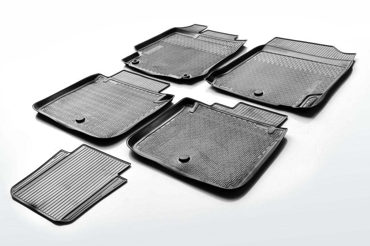 Набор автомобильных ковриков Rival, для Toyota Camry 2014-, в салон, с перемычкой, 4 шт0015701001Прочные и долговечные коврики Rival, изготовленные из высококачественного и экологичного сырья, полностью повторяют геометрию салона вашего автомобиля. - Надежная система крепления, позволяющая закрепить коврик на штатные элементы фиксации, в результате чего отсутствует эффект скольжения по салону автомобиля. - Высокая стойкость поверхности к стиранию. - Специализированный рисунок и высокий борт, препятствующие распространению грязи и жидкости по поверхности ковра. - Перемычка задних ковров в комплекте предотвращает загрязнение тоннеля карданного вала. - Коврики произведены из первичных материалов, в результате чего отсутствует неприятный запах в салоне автомобиля. - Высокая эластичность материала позволяет беспрепятственно эксплуатировать коврики при температуре от -45°C до +45°C.