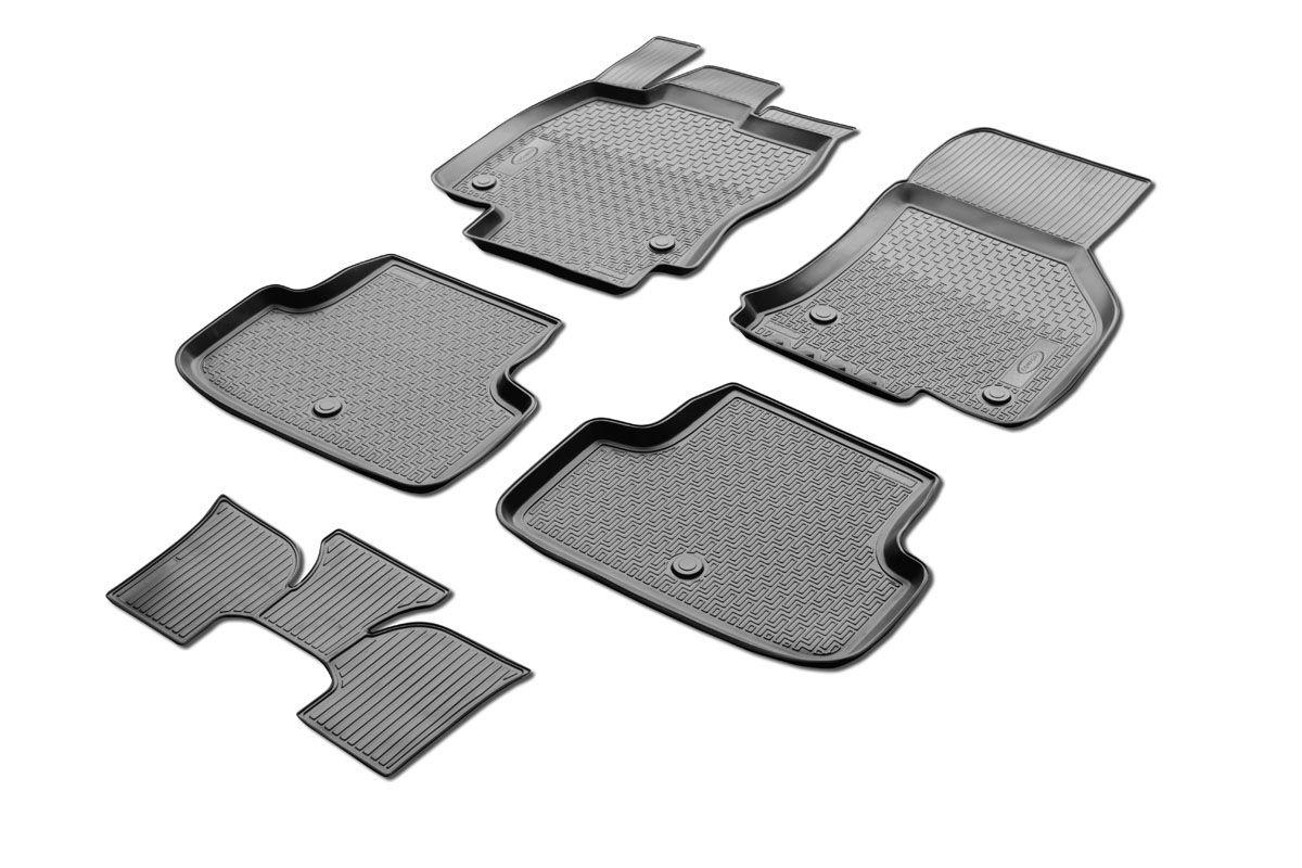 Набор автомобильных ковриков Rival, для Volkswagen Golf VII хэтчбек 2012-, в салон, с перемычкой, 4 шт0015801001Прочные и долговечные коврики Rival, изготовленные из высококачественного и экологичного сырья, полностью повторяют геометрию салона вашего автомобиля. - Надежная система крепления, позволяющая закрепить коврик на штатные элементы фиксации, в результате чего отсутствует эффект скольжения по салону автомобиля. - Высокая стойкость поверхности к стиранию. - Специализированный рисунок и высокий борт, препятствующие распространению грязи и жидкости по поверхности ковра. - Перемычка задних ковров в комплекте предотвращает загрязнение тоннеля карданного вала. - Коврики произведены из первичных материалов, в результате чего отсутствует неприятный запах в салоне автомобиля. - Высокая эластичность материала позволяет беспрепятственно эксплуатировать коврики при температуре от -45°C до +45°C.