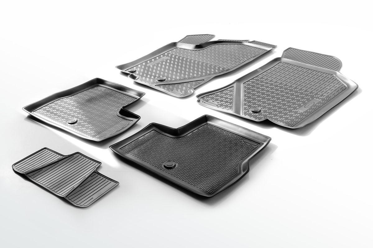 Набор автомобильных ковриков Rival, для Lada Granta хэтчбек/седан 2011-, в салон, с перемычкой, 4 шт0016001001Прочные и долговечные коврики Rival, изготовленные из высококачественного и экологичного сырья, полностью повторяют геометрию салона вашего автомобиля. - Надежная система крепления, позволяющая закрепить коврик на штатные элементы фиксации, в результате чего отсутствует эффект скольжения по салону автомобиля. - Высокая стойкость поверхности к стиранию. - Специализированный рисунок и высокий борт, препятствующие распространению грязи и жидкости по поверхности ковра. - Перемычка задних ковров в комплекте предотвращает загрязнение тоннеля карданного вала. - Коврики произведены из первичных материалов, в результате чего отсутствует неприятный запах в салоне автомобиля. - Высокая эластичность материала позволяет беспрепятственно эксплуатировать коврики при температуре от -45°C до +45°C.